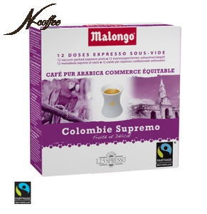 Малонго монодозы кофе Колумбия Супремо (Malongo Columbia Supremo) - 12 шт*6.5 гр