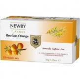 Rooibos Orange Newby (Ройбуш Апельсин) - цветочный чай - 25*2 гр